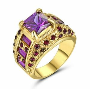 💜Just In💜 Amethyst 10Kt Gold Filled Ring Sz 8